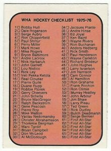 1975-76 OPC WHA HOCKEY #131 CHECKLIST 1-132 - EX+/NRMT-