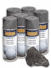 6 x Belton Granit-Effekt-Spray obsidian-schwarz - Granitspray Graniteffekt Spray