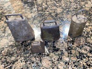 Lot Antique Cowbells Vintage Bells