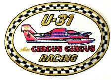 U-31 CIRCUS CIRCUS RACING Checkerboard edge oval UNIFORM PATCH Hydroplane boat