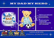 PERSONALISED FATHERS DAY CARD/PLACEMAT A4 SIZE KEEPSAKE GIFT LAMINATED