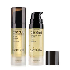 24K Oro Aceite para Cara Maquillaje Prebase Hidratante Base Foundation Primer