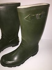 Vintage L.L.Bean Army Green Wellies Rain Boots Women's 9