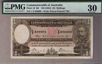 R-9 (1933) Riddle/Sheehan - 10 Shillings. Prefix C3 PMG 30 VERY FINE Pick# 19