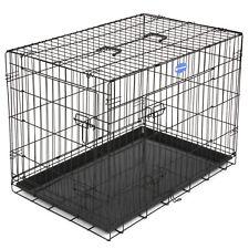 Songmics 2 portes Cage pour Chien pliable et Transportable avec Poignées