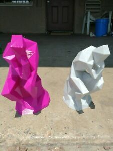 low poly the thinker x2