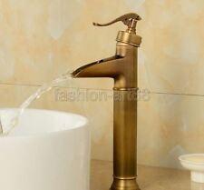 """New """"Water Pump Look"""" Style Antique Brass Bathroom Vessel Sink Faucet fan038"""