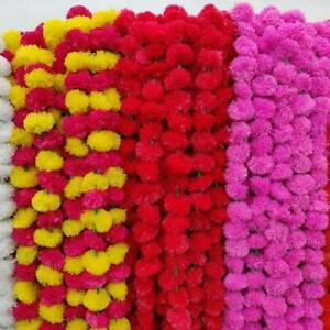 Indian Artificial Marigold All Color Flower Garland Strings for Christmas Decor