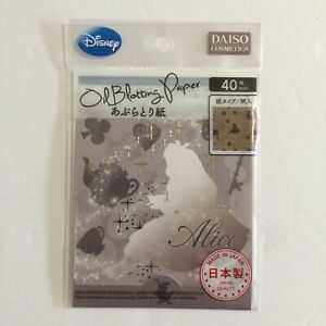 Daiso Japan Disney Alice in Wonderland Oil Blotting Papers