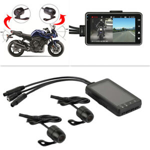 3'' LCD Dual Camera Motorcycle DVR Video Recorder Tachograph Driving Camcorder
