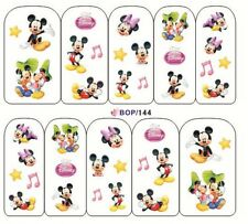 NAIL Art Adesivi Decalcomanie acqua trasferimento adesivi MINNIE & MICKEY MOUSE (bop144)