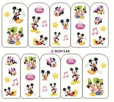 Nail Art de transferencia de agua Pegatina Calcomanías Pegatinas Minnie & Mickey Mouse (BOP144)