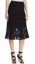 NWT Kobi Halperin Courtney Crochet Lace Midi Skirt Black $498 - 2