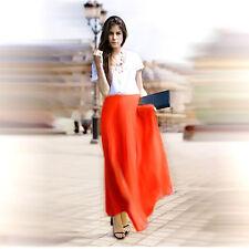 Orange Chiffon Double Layers Long Skirt S ( fits AU 6-8 )
