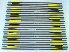 "20"" Crossbow Bolts 100% Carbon Parabolic Vane Super Fast Hammerfist Archery 3-24"