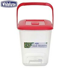 Whitefurze Food Canister 10 Litre Red Lid Kitchen Storage Home New