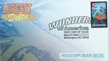 WONDERS OF AMERICA FDC - LARGEST DELTA MISSISSIPPI