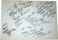 Inner Circle Reggae SIGNED AUTOGRAPHS MTVs Most Wanted Guest Book Page AFTAL