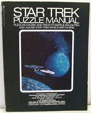 Star Trek Puzzle Manual  1976 - Puzzles, Mazes & Trivia to Baffle Fans
