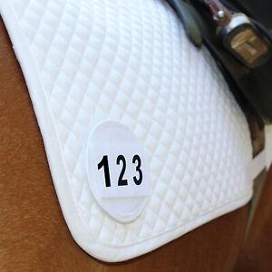Equetech Dressage Saddle Cloth Holder - Pairs/Singles - Black / White