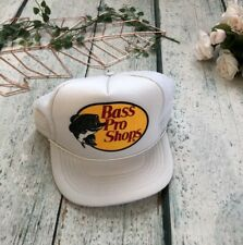 Vintage Trucker Hat Bass Pro Shops White Adjustable One Size Mesh SnapBack