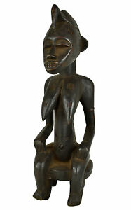 Senufo Seated Maternity Figure Cote D'Ivoire African Art