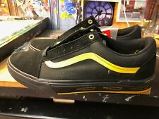 Vans Old Skool Pro BMX Larry Edgar Black Yellow Suede Size US 10.5 Men New