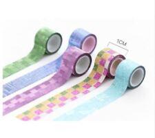 9 un./set Set Encantadora Mini Glitter Washi Cinta HAZLO TÚ MISMA Decoración Scrapbooking Sticker