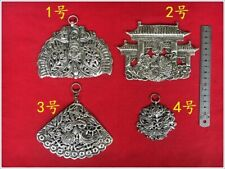 Diy accessroy ornament panel 1piece Tribe handmade miao silver costume jewellery