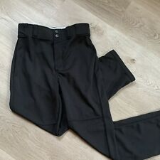 LN Rawlings Youth L Baseball Pants Black Relaxed Fit Flare Belt Loops
