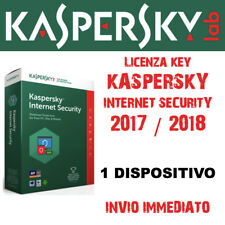 KASPERSKY INTERNET SECURITY 2018 per 1 PC Mac Android - licenza annuale (1 anno)