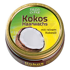 3.4oz Swiss o par Cocos Hair Wax With Pure Coconut Oil Wax Neat Look Styling