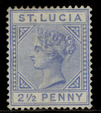 More details for st. lucia qv sg33, 2½d blue, unused. cat £75. die i