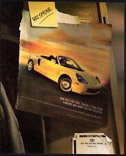 2002 TOYOTA MR2 Spyder Yellow Convertible Car Photo AD