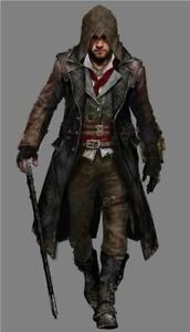 Jacob Frye Assassin's Creed Syndicate Mens Leather Trench Coat Costume Halloween