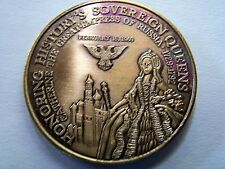 1969 Venus CATHERINE THE GREAT Antique Bronze Mardi Gras Doubloon