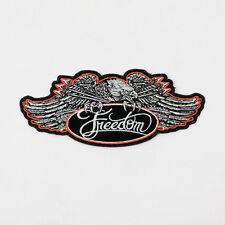 Biker Chopper Motorrad Freedom Eagle Adler Freiheit Aufbügler Aufnäher Patch NEU