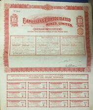 Argentinien 1909: Capillitas Consolidated Mines, Limited