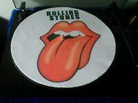 "ROLLING STONES slipmat patinador turntable mat 12"" LP Improve sound"