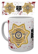 THE WALKING DEAD KINGS COUNTY SHERIFF BADGE MUG NEW GIFT BOX 100%OFFICIAL MERCH