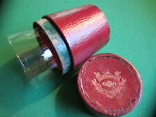 Antique Medicine Glass in a Red Leather Case