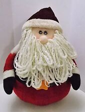 "Crazy Mountain Santa Claus Stuffed Plush Chubby Rolly Rounded Base 17"" Vintage"