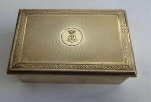"GUSTAVE KELLER PARIS GOLD ""VERMEIL"" PLATED SILVER BOX MULTIPLE USES"