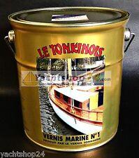 (25,16€/L) Le Tonkinois Vernis Marine Nr.1 - 2,5L extra UV-beständiger Bootslack