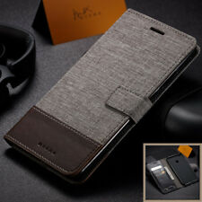 For Xiaomi Mi Max 2 Luxyry Slim Canvas Leather Wallet Card Flip Stand Case Cover