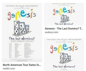 2 x Genesis: The Last Domino Tickets. Phil Collins. Manchester Arena Sep 25