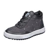 Scarpe bambina LAURA BIAGIOTTI 33 EU sneakers nero pelle grigio tessuto BM436-33
