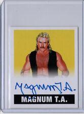 2017 Leaf Orignals Wrestling MAGNUM T.A. Yellow 16/99 Auto Card NWA