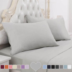 Extra Deep 25cm Ultra Soft Fitted Sheet Double King Super King Size Bed Sheets