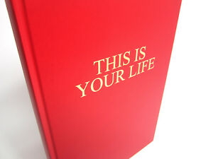 This is Your Life, Gold Embossed Memory Album, Scrapbook, Photo, Keepsake, A3/A4